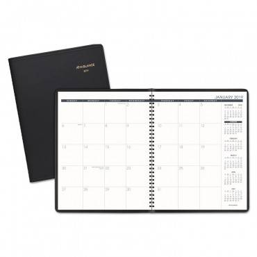 Monthly Planner, 11 X 8 7/8, Black, 2020-2021