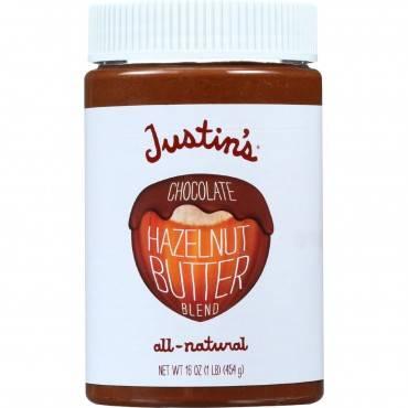 Justin's Nut Butter Hazelnut Butter - Chocolate - Case Of 6 - 16 Oz.
