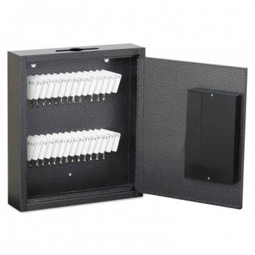 Hercules Key Cabinets E-Lock, 30-Key, Steel, Silver Vein
