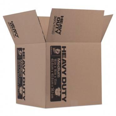 Heavy-duty Moving/storage Boxes, 16l X 16w X 15h, Brown