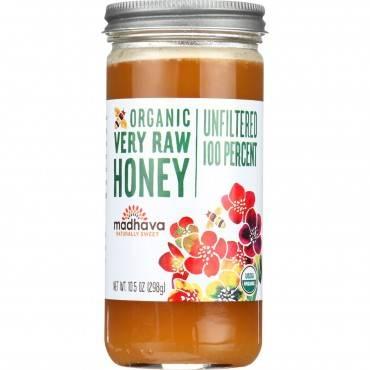 Madhava Honey Honey - Organic - Very Raw - 100 Percent Unfiltered - 10.5 Oz - Case Of 12