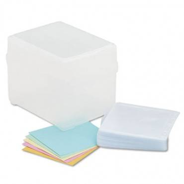 Innovera  Cd/Dvd Storage Box, Holds 100 Discs, Clear
