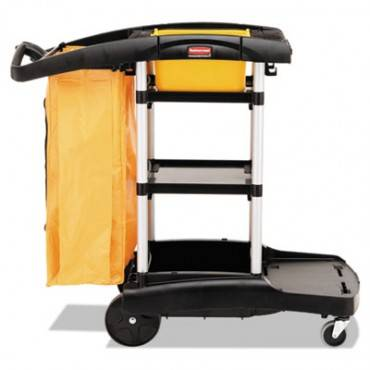 Rubbermaid  Commercial High Capacity Cleaning Cart, 21-3/4w X 49-3/4d X 38-3/8h, Black
