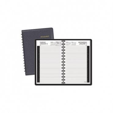 Daily Appointment Book With 30-minute Appointments, 8 X 4 7/8, White, 2020