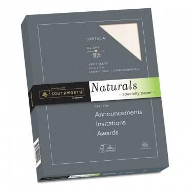Naturals Paper, 32 Lb, 8.5 X 11, Tortilla, 100/pack