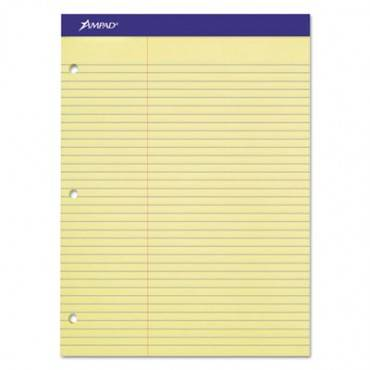 Double Sheet Pads, Pitman Rule, 8.5 X 11.75, Canary, 100 Sheets