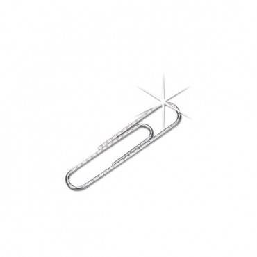 Paper Clips, Medium (no. 1), Silver, 1,000/pack