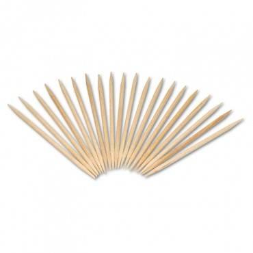 "Round Wood Toothpicks, 2 1/2"", Natural, 800/box"