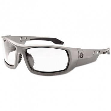 Skullerz Odin Safety Glasses, Gray Frame/clear Lens, Anti-fog,nylon/polycarb