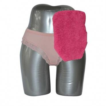 """Quick Dry Pouch Cover, Fits Flange Opening Of 3/4"""" To 2-1/4"""", Overall Length 9"""", Pink Terry Cloth Part No. 72751 (1/ea)"""