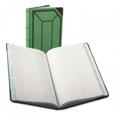 Record/account Book, Journal Rule, Green/red, 300 Pages, 12 1/2 X 7 5/8