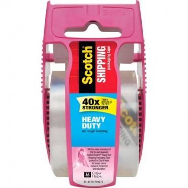 Scotch® Shipping Packaging Tape- Pink Dispenser (RL/ROLL)