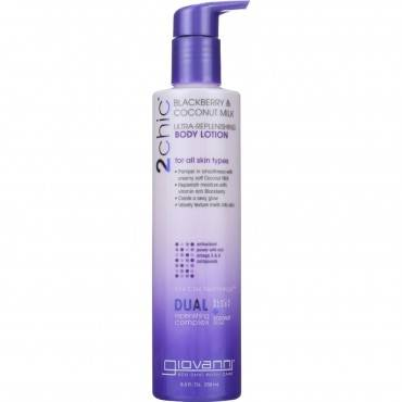 Giovanni Hair Care Products Lotion - 2chic - Repairing - Ultra-Replenishing - Blackberry and Coconut
