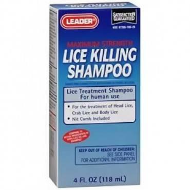Leader Lice Killing Shampoo, 4 oz. Part No. 2292639 Qty 1