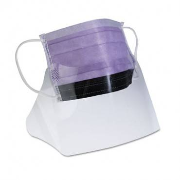 Prohibit Face Mask W/eyeshield, Polypropylene/cellulose, Purple, 25/box