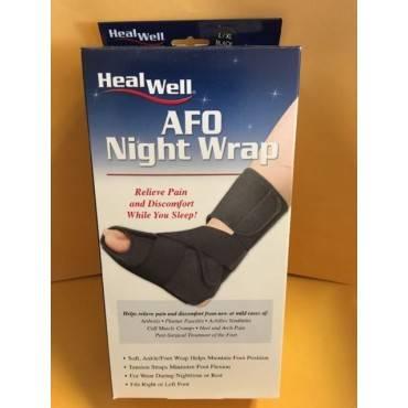 Healwell Afo Night Wrap Black Lg/xl