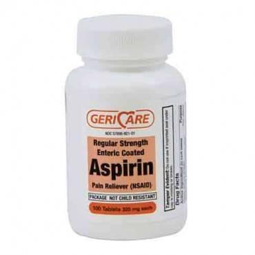 Gericare Aspirin 325mg Coated 100/bt  Model: 921-01-gcp (1/ea)