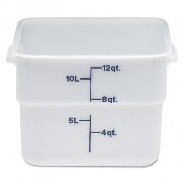 Camsquares Container, Plastic, 11.4l, White, 6/carton