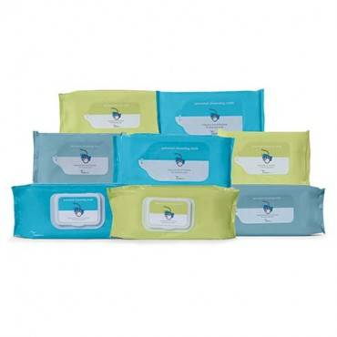 """Cardinal Health Personal Cleansing Cloth, Flushable, Fragrance Free, 9"""" X 13"""" (42/Package)"""