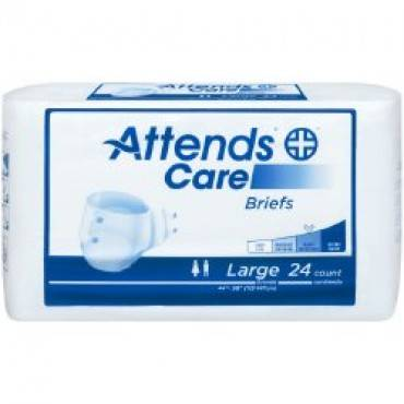 Adult Incontinent Brief Attends®care Tab Closure Medium Disposable Moderate Absorbency(96/ca)