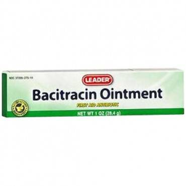 Leader bacitracin ointment, 1 oz. part no. 1783984 (1/ea)