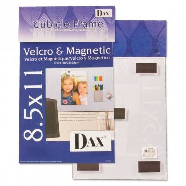 Velcro Magnetic Cubicle Photo Document Frame, Acrylic, 8 1/2 X 11, Clear