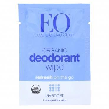 EO Organic Deodorant - Wipes Lavender - Case of 24 - 1 Each