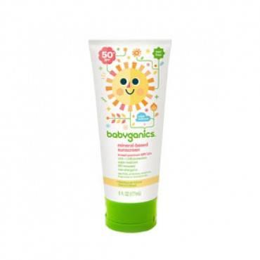 Babyganics Mineral-Based Sunscreen Lotion, 50 SPF, 6 oz Part No. 12108 Qty 1
