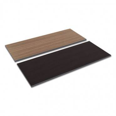 Reversible Laminate Table Top, Rectangular, 59 1/2w X 23 5/8d, Espresso/walnut