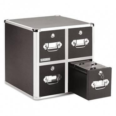 Vaultz  4-Drawer Cd File Cabinet, Holds 660 Folders Or 240 Slim/120 Standard Cases