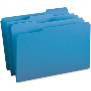 Business Source 1/3-cut Tab Legal Colored File Folders (BX/BOX)
