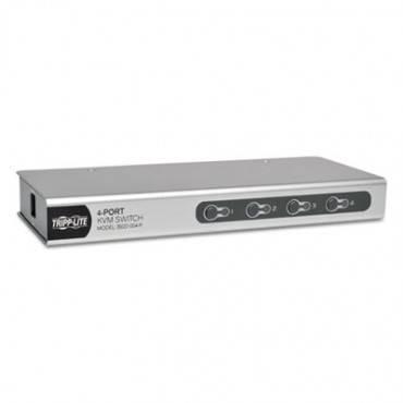 4-port Desktop Kvm Switch, Hd15, Mini Din6, Ps/2