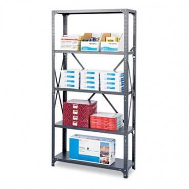 Commercial Steel Shelving Unit, Five-shelf, 36w X 18d X 75h, Dark Gray
