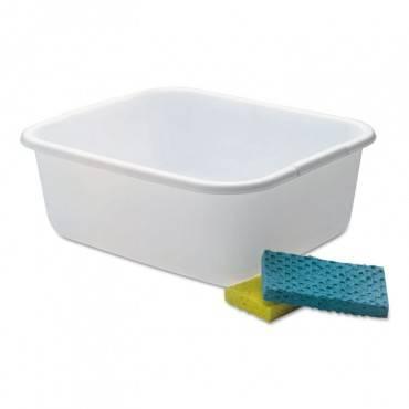 Microban Dishpan, 4.5gal, White, 6/carton