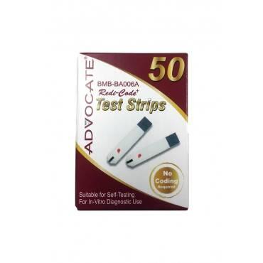 Advocate redi-code plus glucose test strip (50 count) part no. 002 (50/box)