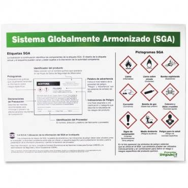 Impact Products GHS Label Guideline Spanish Poster (EA/EACH)