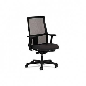 Ignition Series Mesh Mid-back Work Chair, Supports Up To 300 Lbs., Black Seat/black Back, Black Base