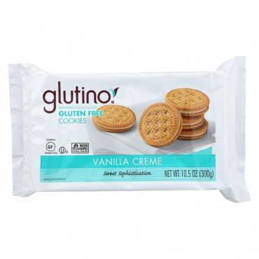 Glutino Creme Cookies - Vanilla - Case Of 12 - 10.5 Oz.