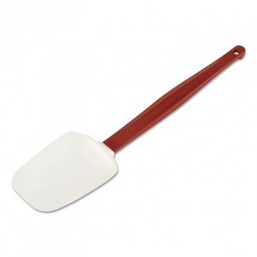 High Heat Scraper Spoon, White W/red Blade, 13 1/2""