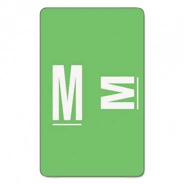 Alpha-z Color-coded Second Letter Labels, Letter M, Light Green, 100/pack