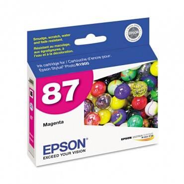 Epson  T087320 (87) Ultrachrome Hi-Gloss 2 Ink, Magenta