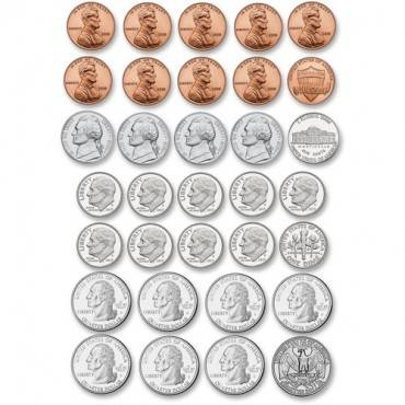 Ashley US Coin Money Set Die-cut Magnets (ST/SET)