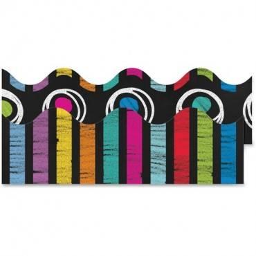 Carson-Dellosa Colorful Chalkboard Scalloped Borders (PK/PACKAGE)