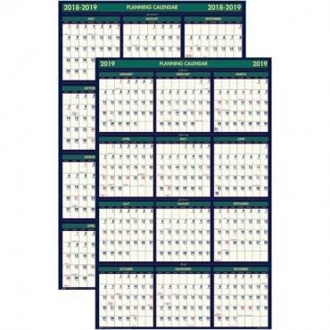 House of Doolittle Eco-friendly 18 Month Laminated Wall Calendar (EA/EACH)