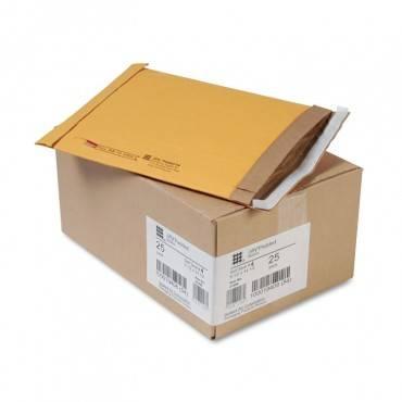 Jiffy Padded Mailer, #4, Paper Lining, Self-adhesive Closure, 9.5 X 14.5, Natural Kraft, 25/carton