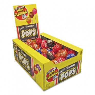 Tootsie Pops, 0.6 Oz, Assorted Flavors, 100/box