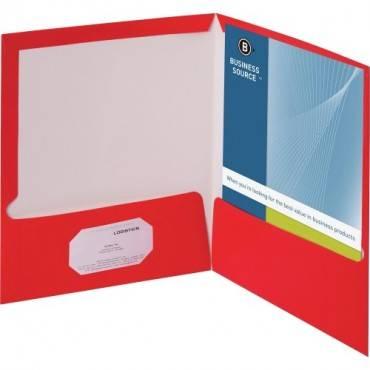 Business Source Laminated Cover 2-pocket Portfolio (BX/BOX)