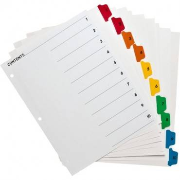 Business Source Table of Content Quick Index Dividers (ST/SET)