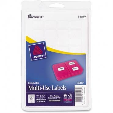 Avery® Removable ID Labels (PK/PACKAGE)