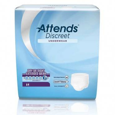 "Attends® discreet day/night extended wear underwear, medium 28"" to 40"" (previously 34"" to 44"") part no. appnt20 (64/case)"